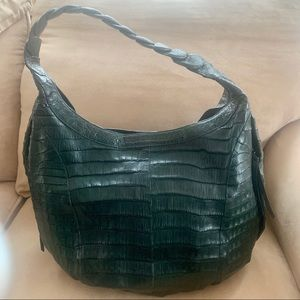 Nancy Gonzalez Green Crocodile Handbag